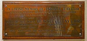 14 S Nave Plaque